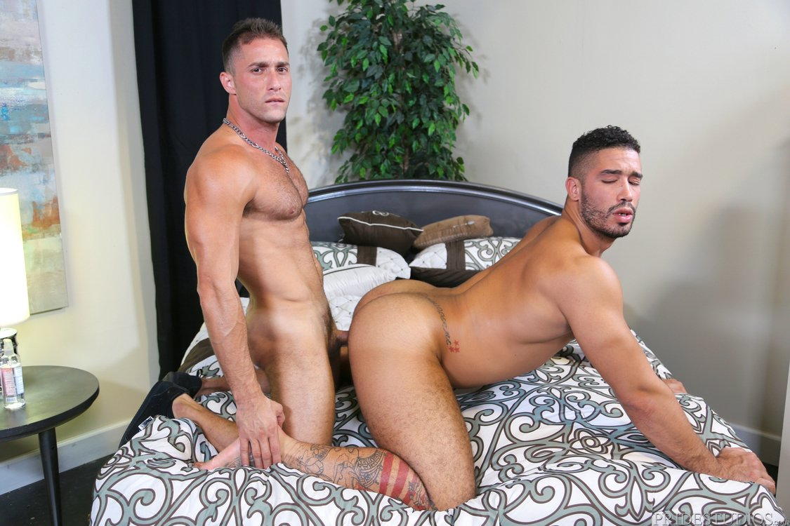 image Gaycastings thick dick fucks leather sf otter on casting couch