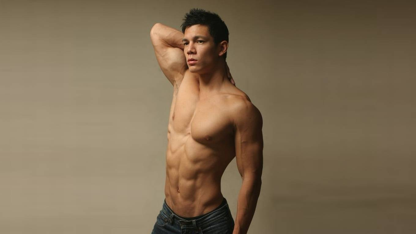 Athletic Guy Shirtless in Jeans
