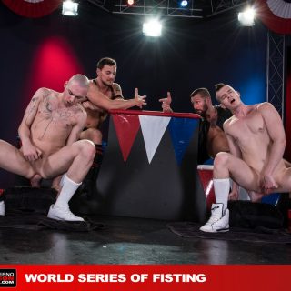 World Series Of Fisting, Scene 6 - Hugh Hunter, Axel Abysse, Joey D & Sam Syron