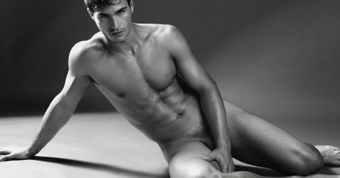 Black and White Artistic Nude Fit Young Guy