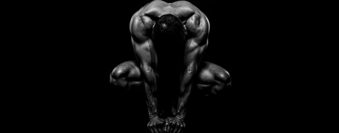 Black and White Muscular Stud Artistic Nude