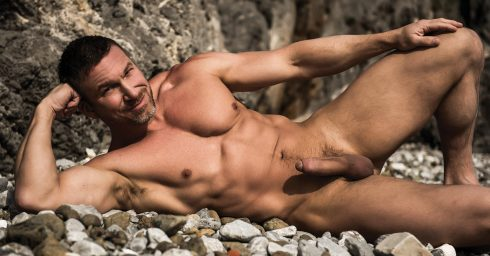 Full-Frontal Fit Hunk with Hardon at the Shore