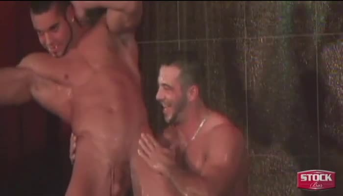 Male stripper shower