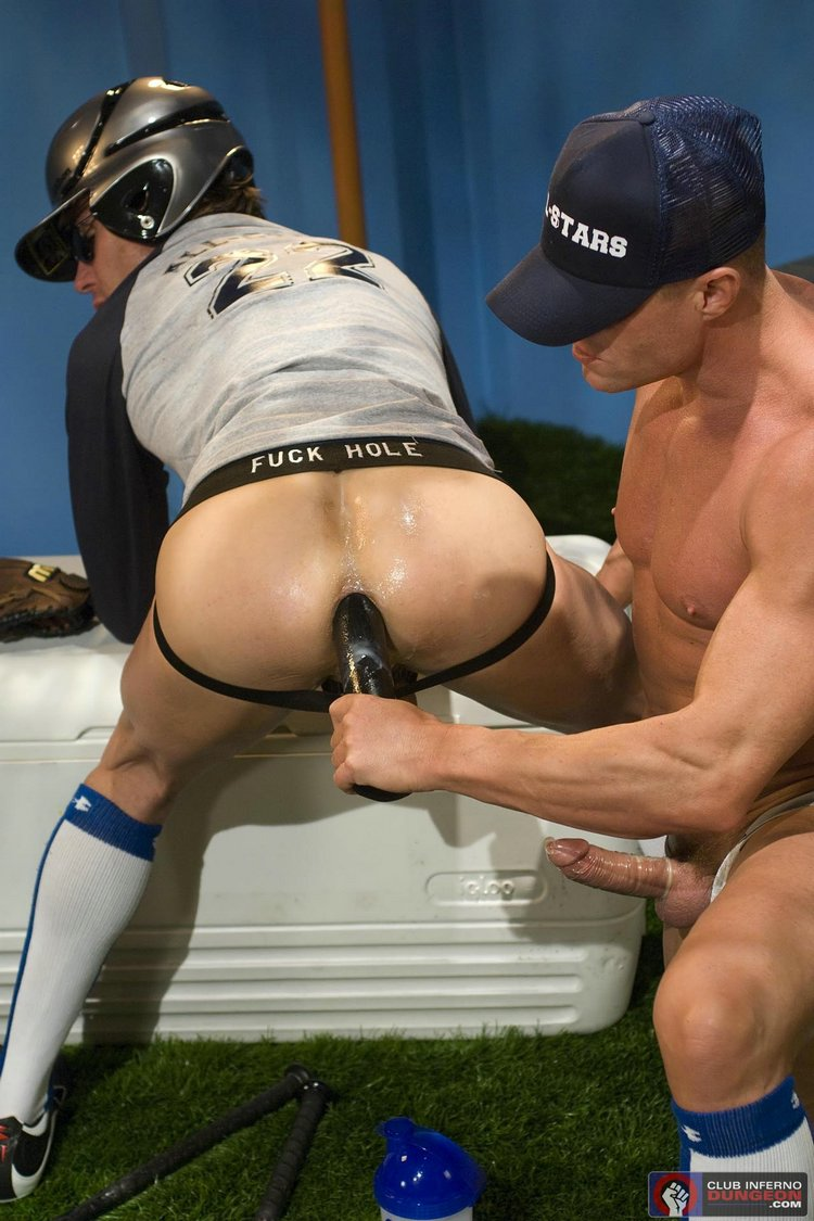 Baseball bat in the ass gay