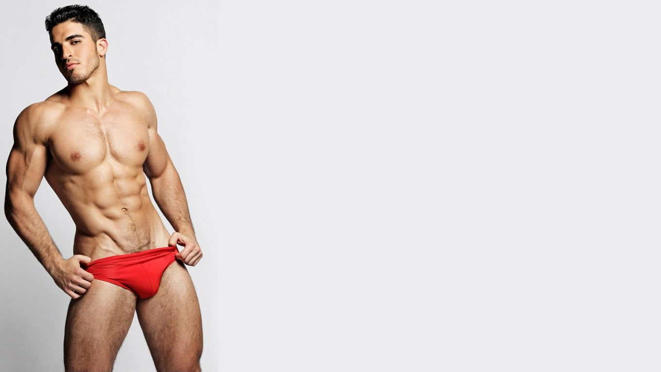 Fit Young Guy in Red Speedo