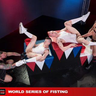 World Series Of Fisting, Scene 5 - Hugh Hunter, Axel Abysse, Joey D & Sam Syron