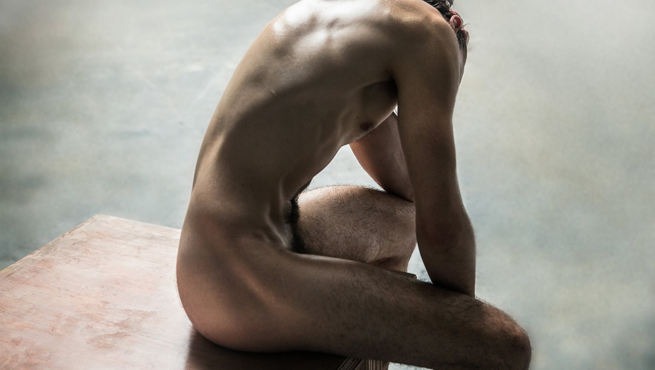 Ripped Stud Artistic Nude