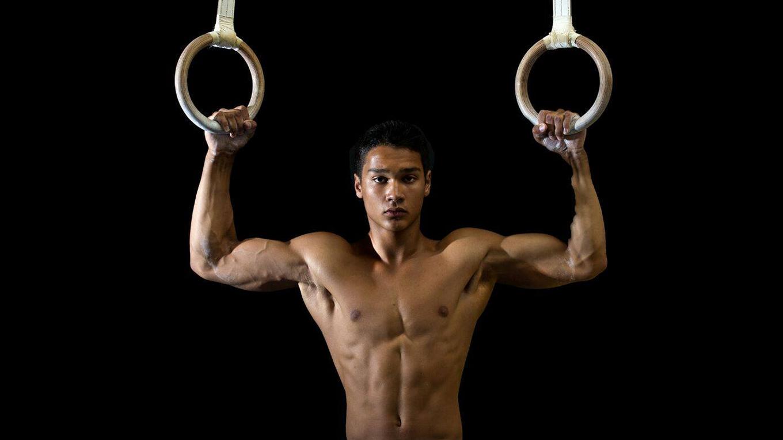 Shirtless Gymnast