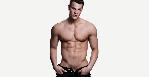 Muscular Young GuyShirtless in Jeans