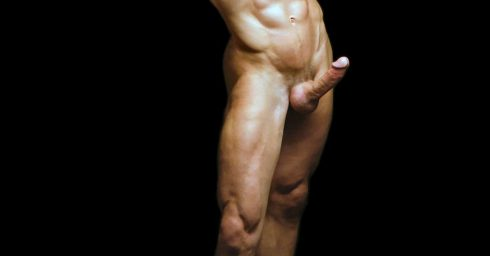 Full-Frontal Muscular Stud with a Hardon