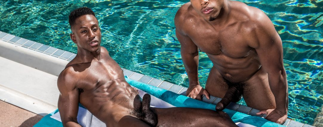 Full-Frontal Two Hung Studs at the Pool
