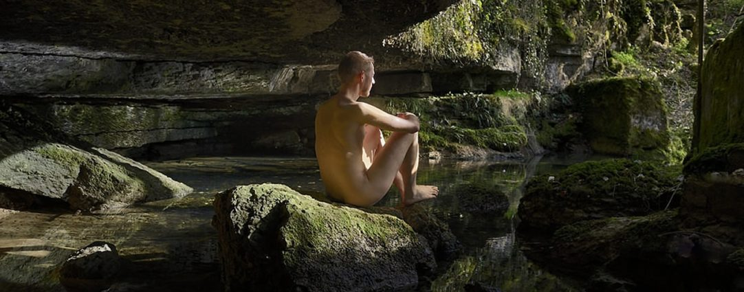 Naked in a Mountain Stream