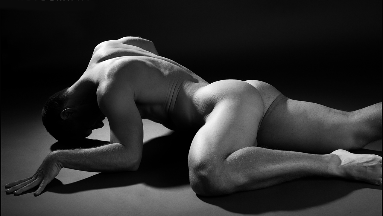 Black and White Rearview Artistic Nude