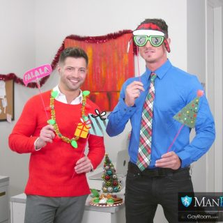 Office Christmas Party Fuck - Casey Everett & Cade Maddox