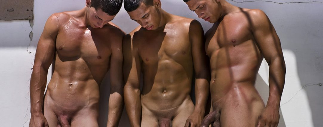 Full-Frontal Three Athletic Guys