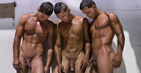 Full-Frontal Three Athletic Guys