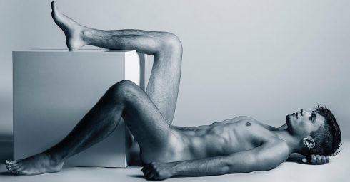Black and White Artistic Nude on the Floor