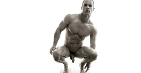 Black and White Full-Frontal Athletic Stud