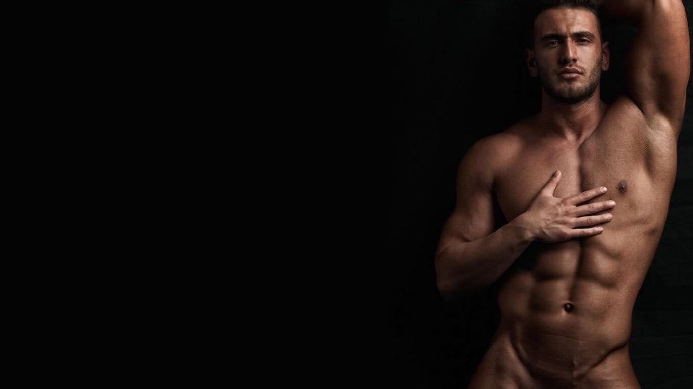 Muscular Hunk Shirtless