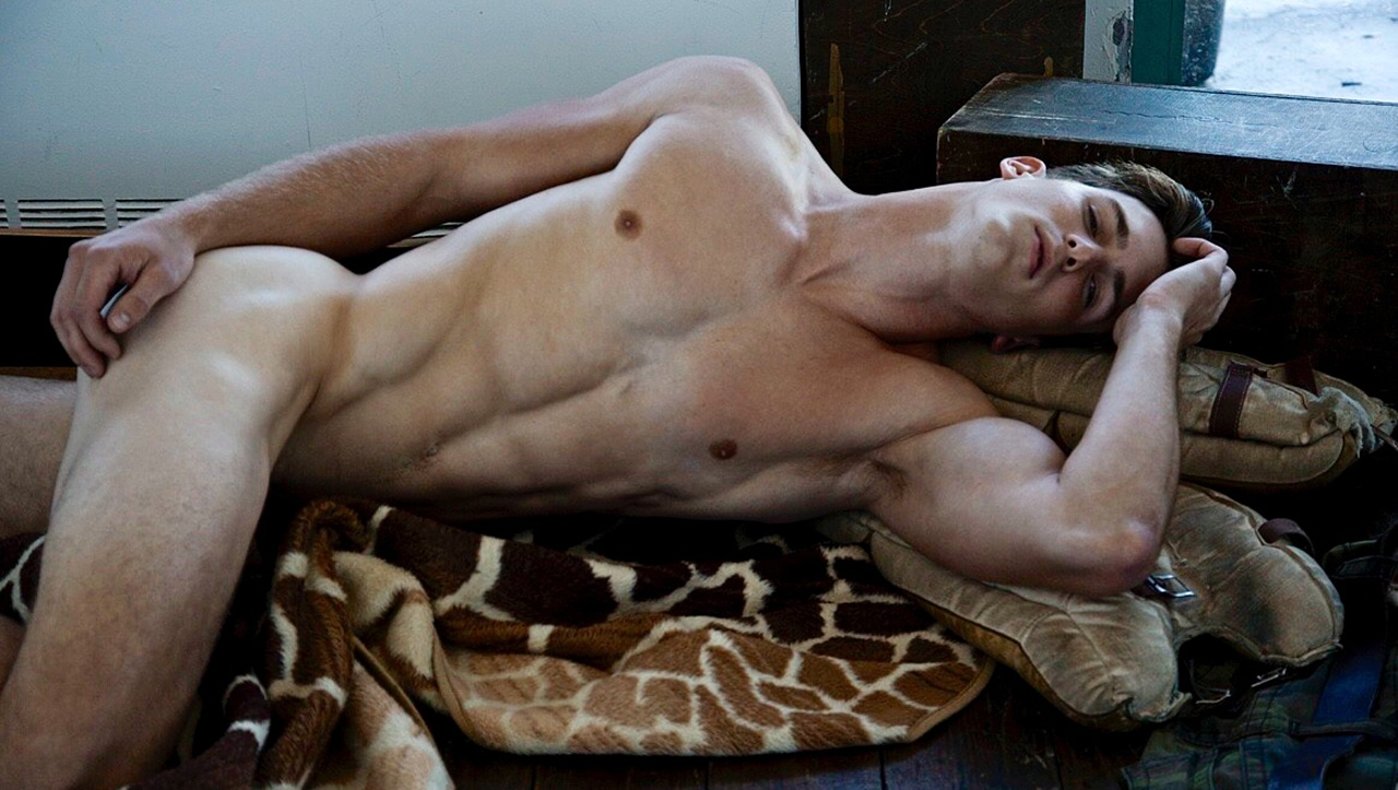 Fit Young Guy Naked on the Floor