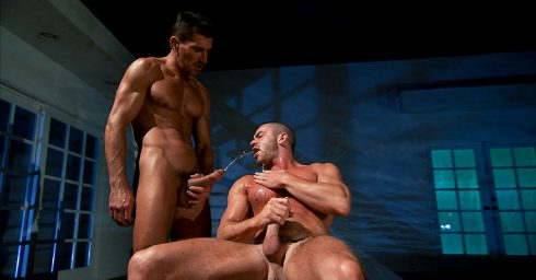 Full-Frontal Two Muscular Studs and a Bit of Watersports