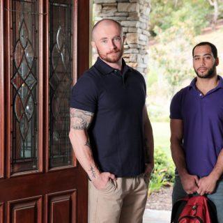 Brotherly Visit - Markie More & David Rose