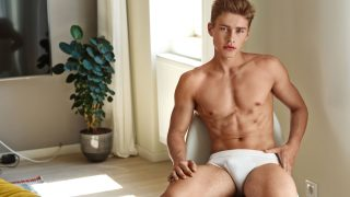 Athletic Young Guy in White Briefs