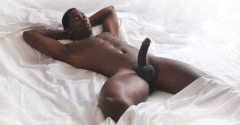 Full-Frontal Hung Stud with a Hardon in Bed