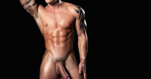 Full-Frontal Young Bodybuilder with a Nice Big Cock