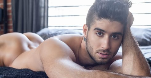 Young Guy with a Beautiful Ass in Bed