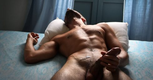 Fit Hunk Rubbed One Out