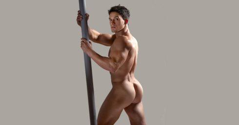 Rearview Muscular Hunk