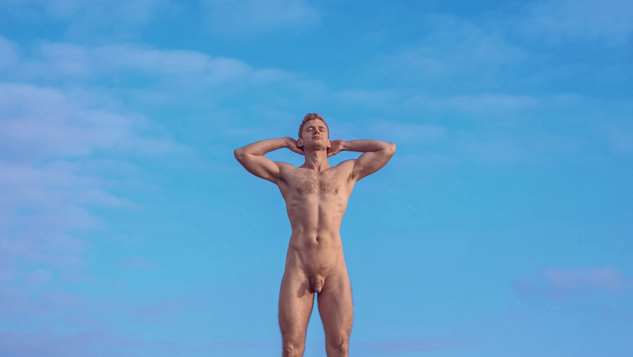Full-Frontal Fit Hunk and a Blue Sky