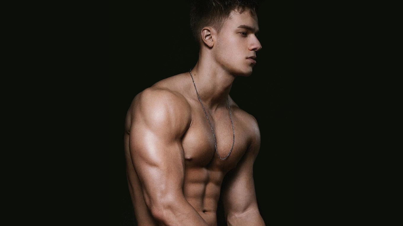 Ripped Young Guy Shirtless