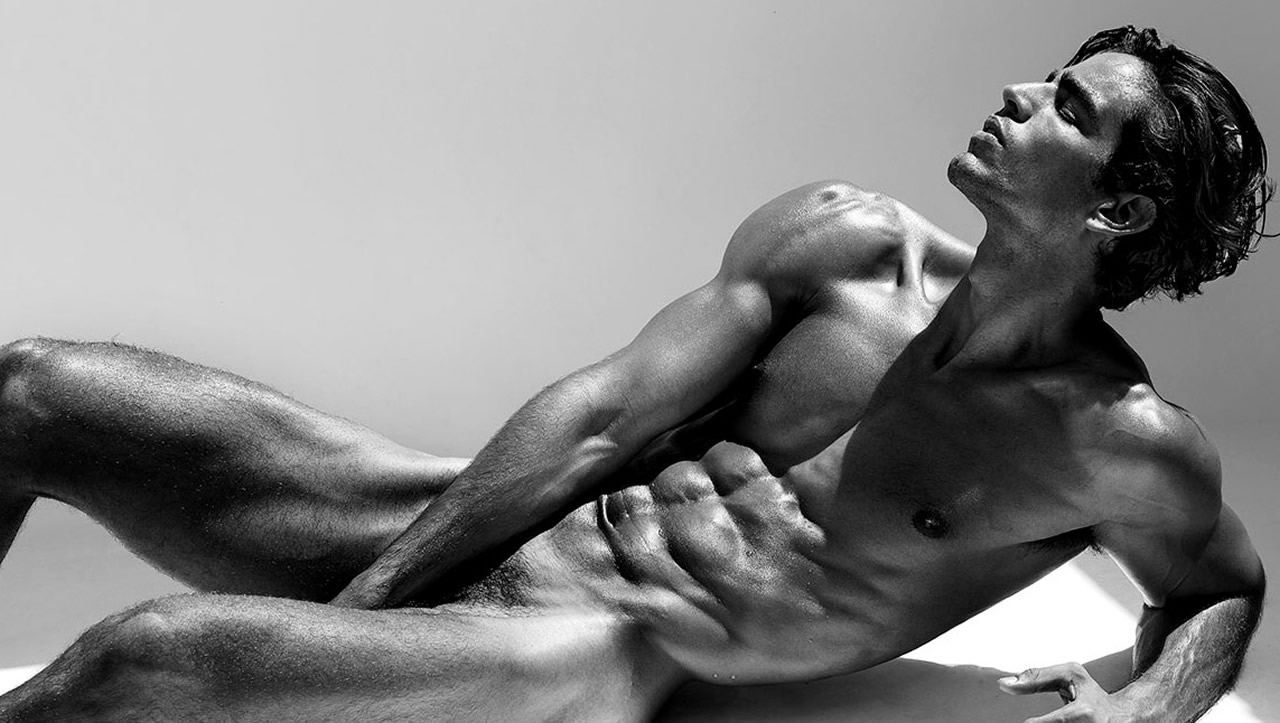 Black and White Ripped Stud Nude