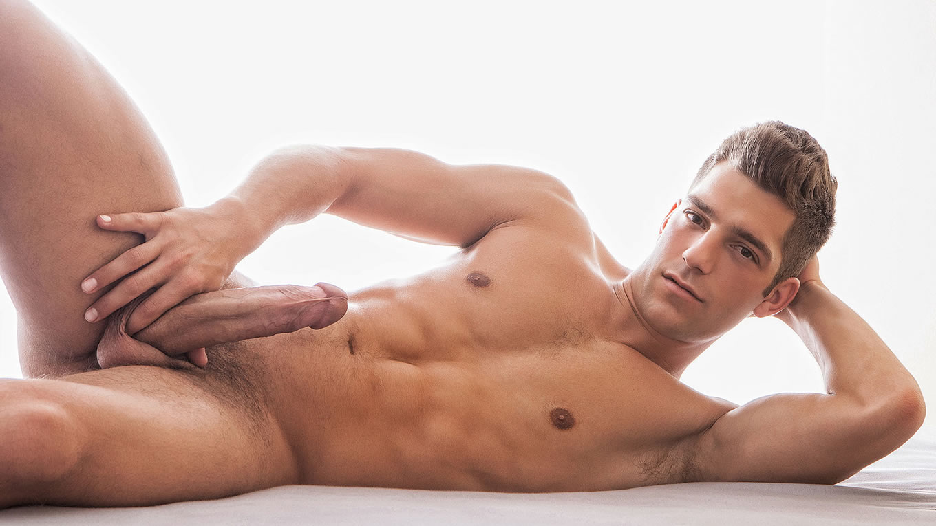 Muscular Young Hunk with a Hardon
