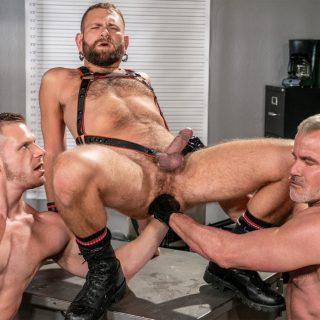 Fist Fuck Police Department, Scene 5 - Brian Bonds, Dale Savage & Josh Mikael
