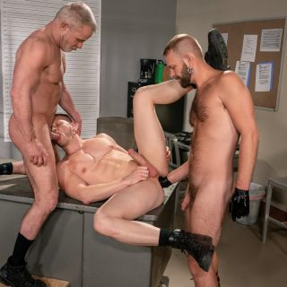 Fist Fuck Police Department, Scene 6 - Brian Bonds, Dale Savage & Josh Mikael