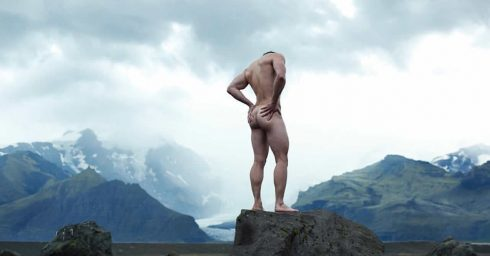 Rearview Naked in the Mountains