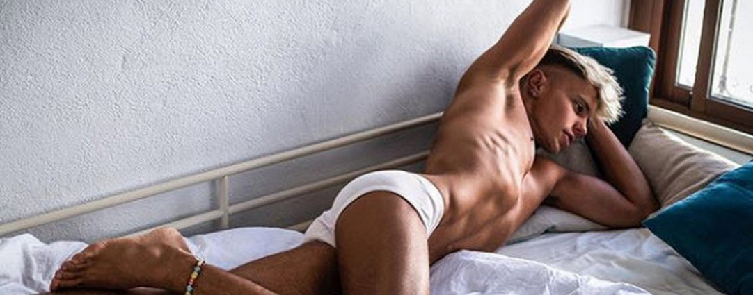 Fit Young Guy in White Briefs